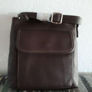 Chocolate brown crossbody bag , New